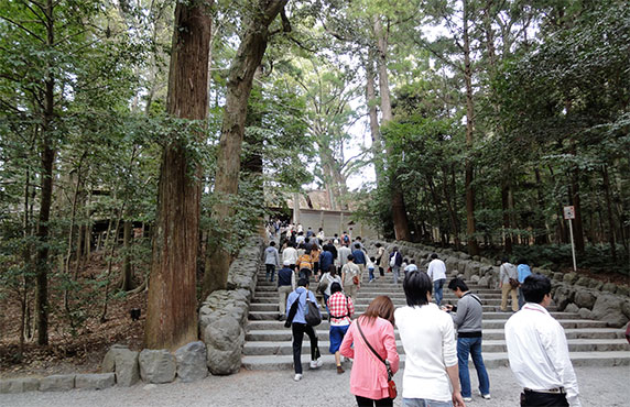 Ise Shrine steps to sanctuary